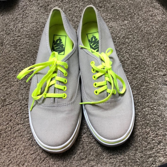 Vans Shoes | Grey Vans With Lime Green